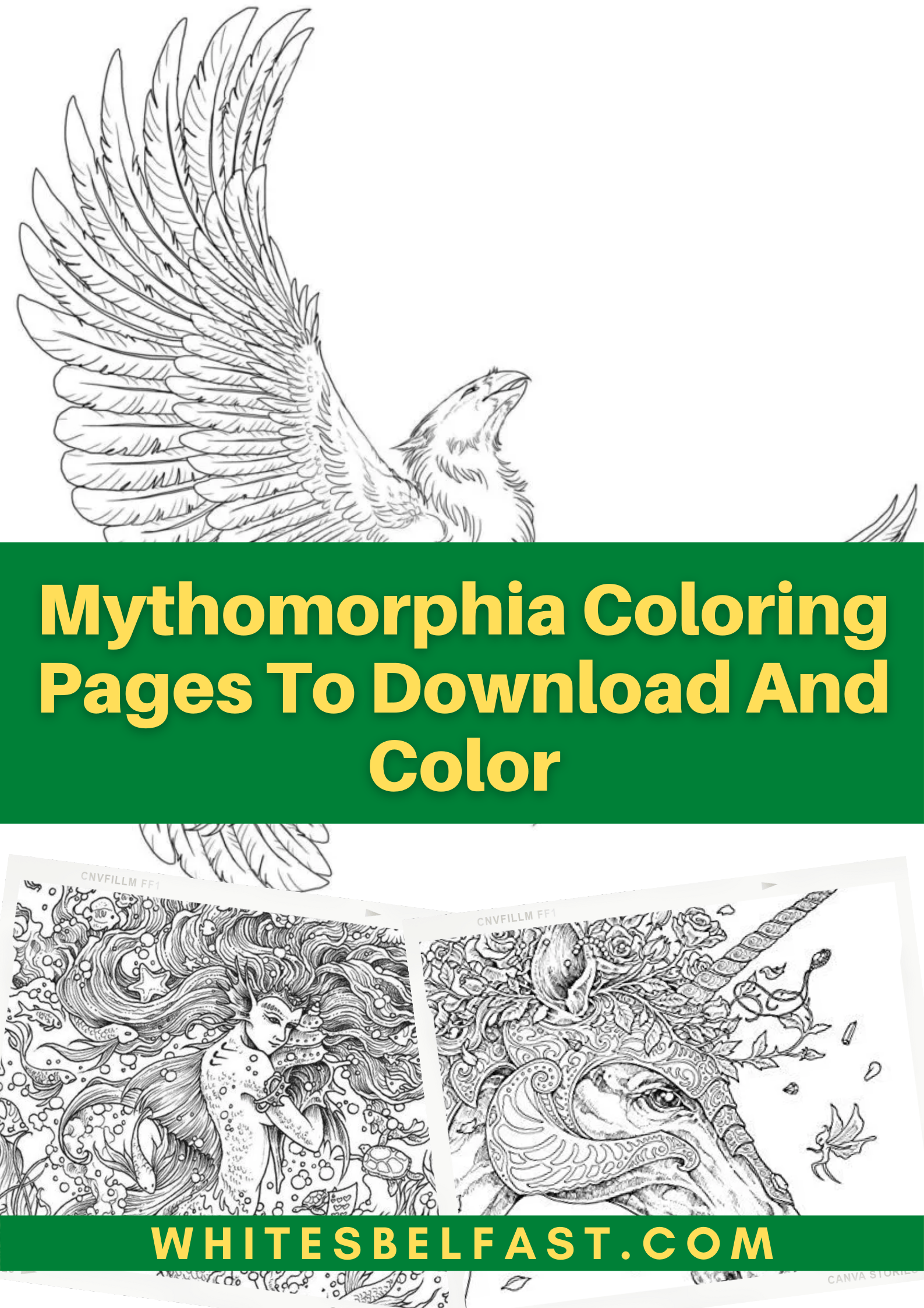 Mythomorphia Coloring Pages To Download And Color - Whitesbelfast.com