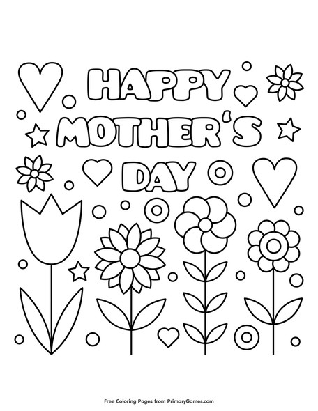 09 happy mothers day mothers day coloring pages