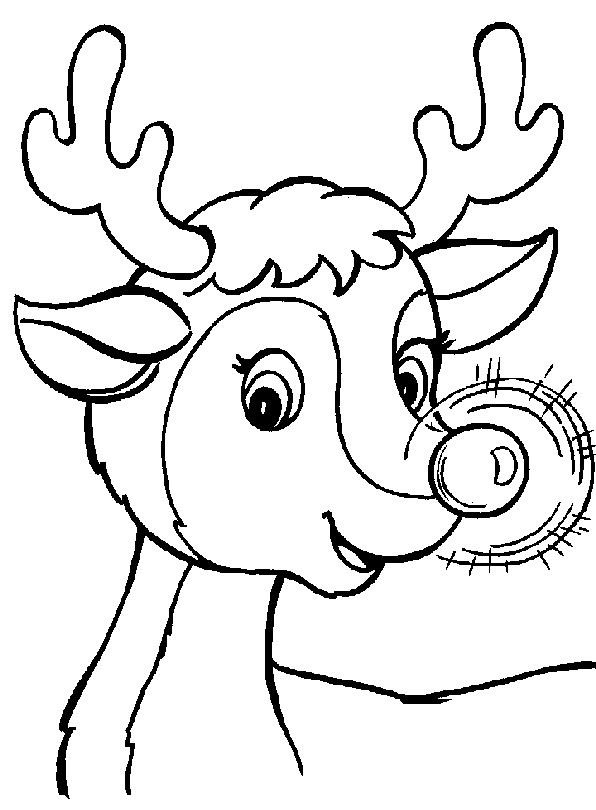 1001 coloringpages christmas reindeer rudolph the