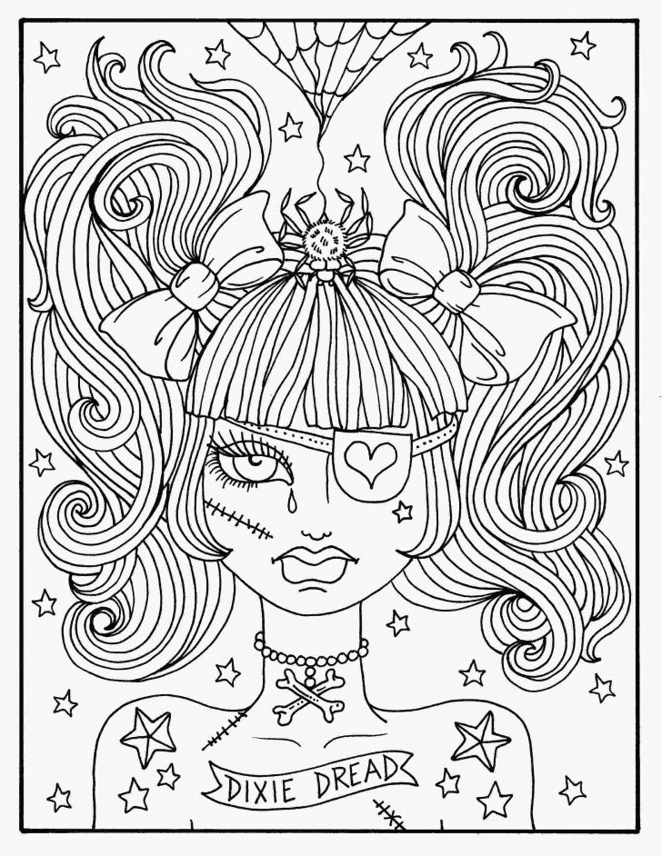 100day 100 outstanding creepy coloring pages 100 stunning