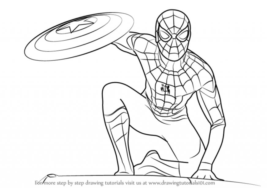 1022 spider man free clipart 4