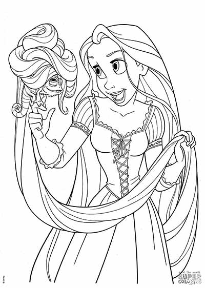 170 free tangled coloring pages jan 2020 rapunzel