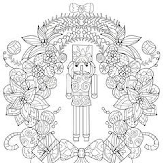2 printable coloring pages zentangle coloring book nutcracker