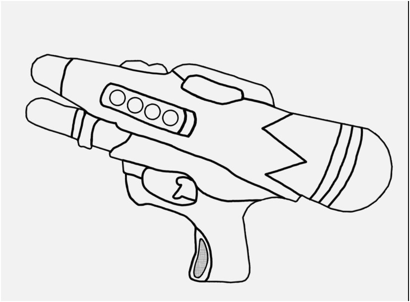 3d coloring pages pic excellent water gun coloring pages