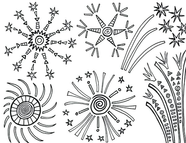 Fireworks Coloring Pages Collection Whitesbelfast