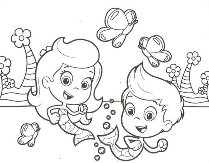 5 cute bubble guppies coloring pages big bang fish