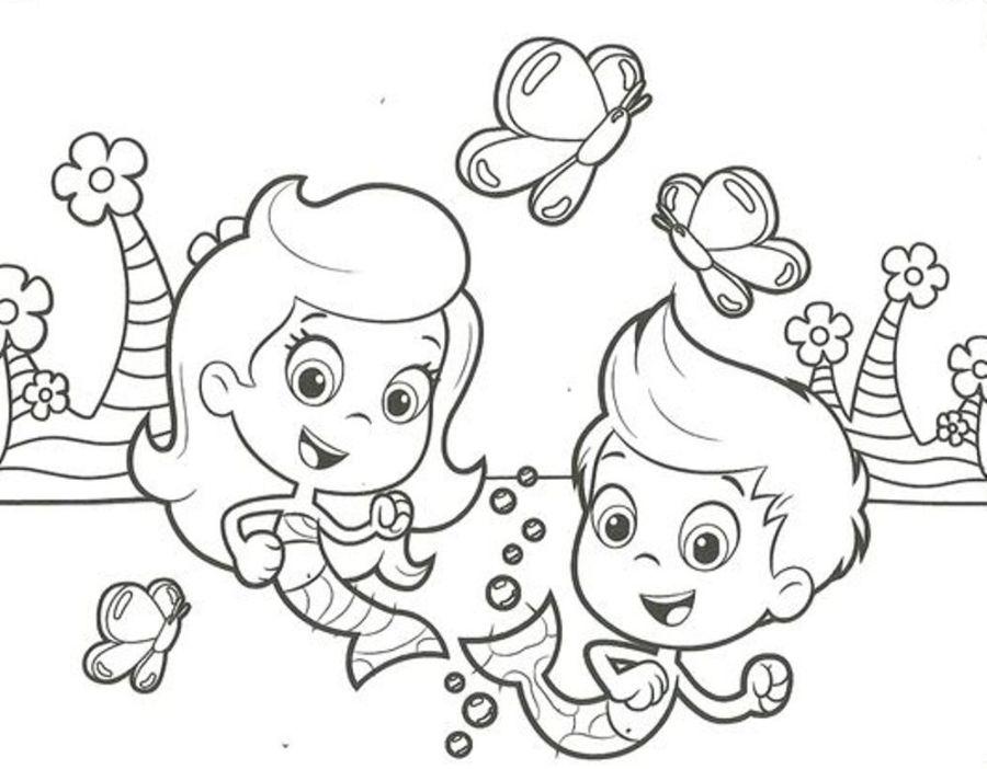 5 cute bubble guppies coloring pages big bang fish