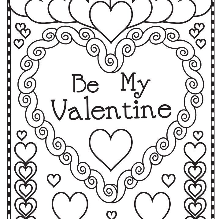 543 free printable valentines day coloring pages