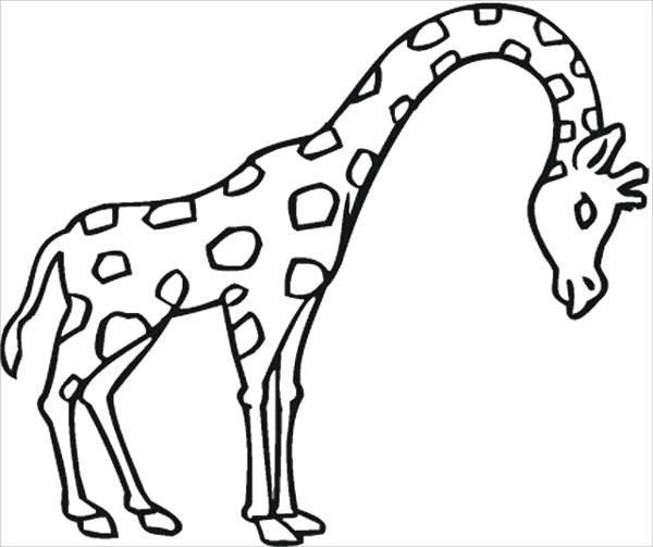 8 giraffe coloring pages jpg ai illustrator download