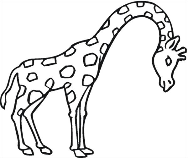 8 giraffe coloring pages jpg ai illustrator download