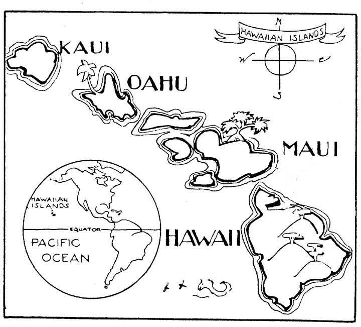 a to z kids stuff hawaii map color page hawaii crafts