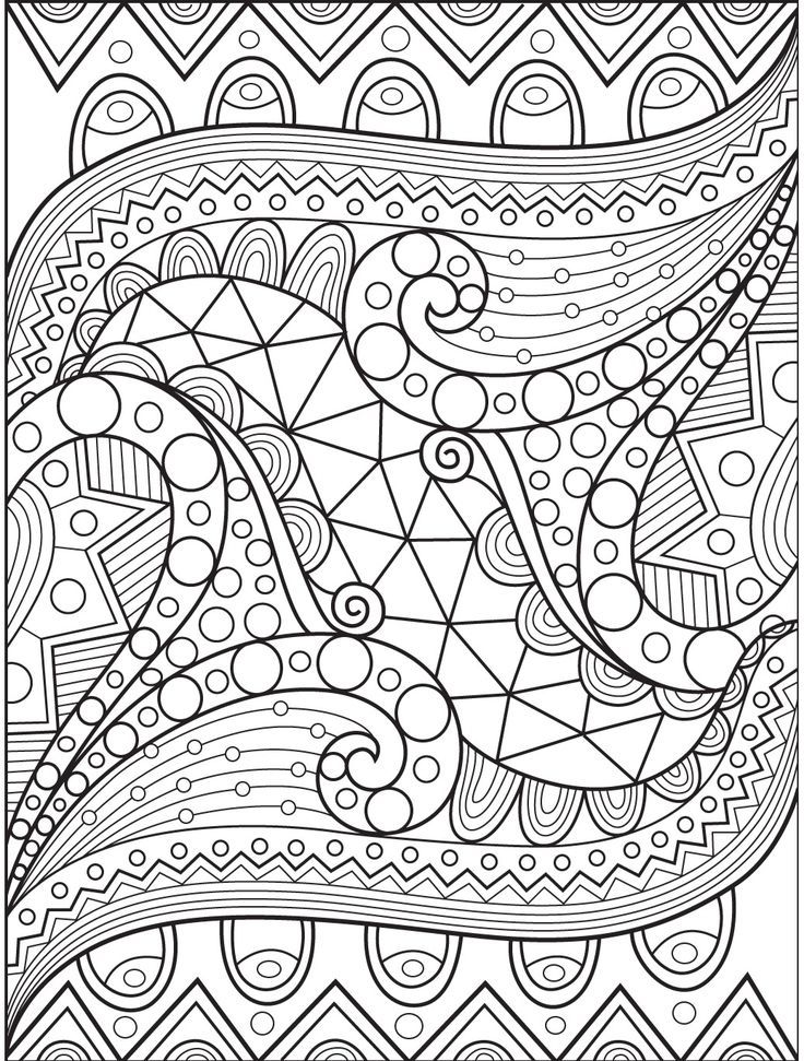 abstract coloring page on colorish coloring book app for