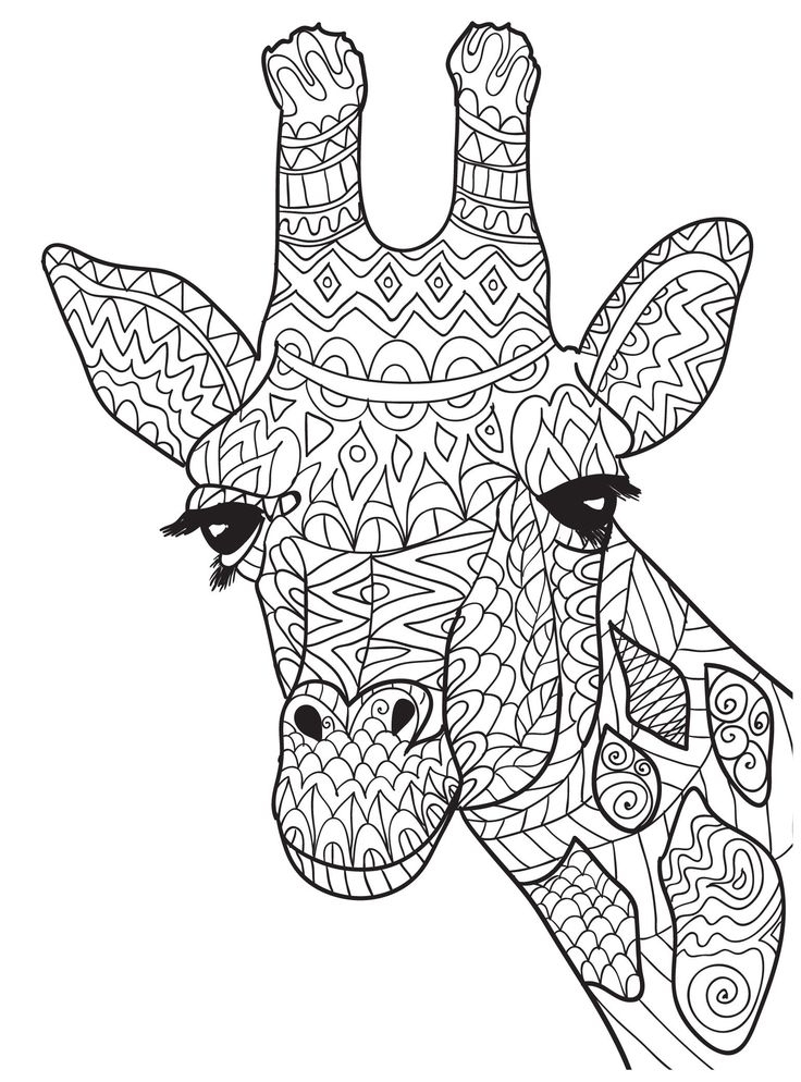 abstract giraffe coloring pages collection fun for kids