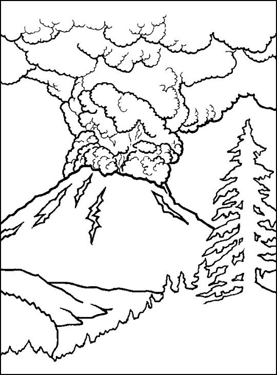 active volcano coloring sheet coloring pages cool