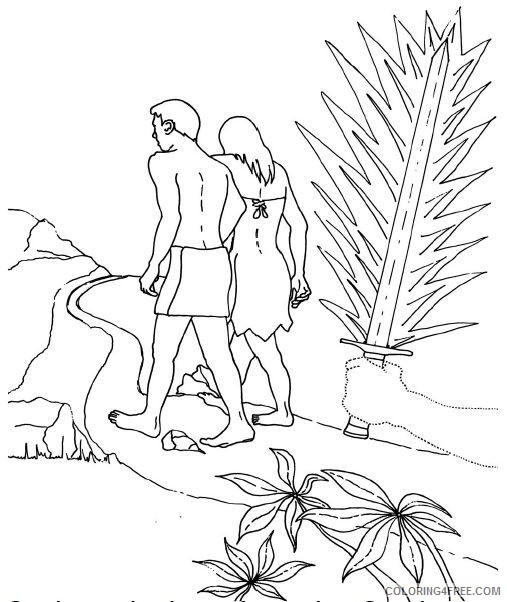 adam and eve coloring pages expelled from paradise