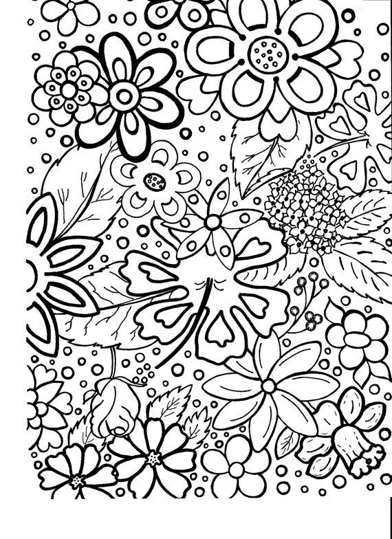 adult coloring page flowers coloring hand bigtranchsoap