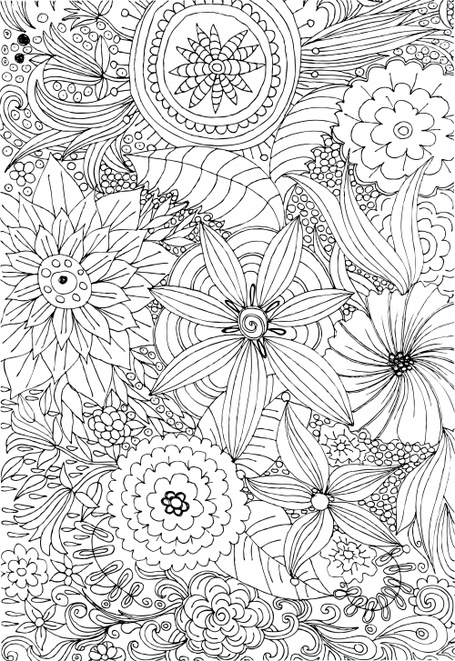 advanced flower coloring pages 2 coloring pages flower