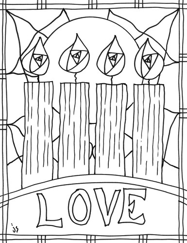 advent coloring pages stushie art