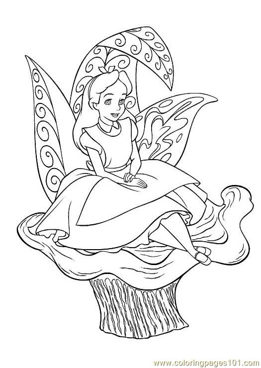 alice in wonderland coloring page anime alice in wonderland