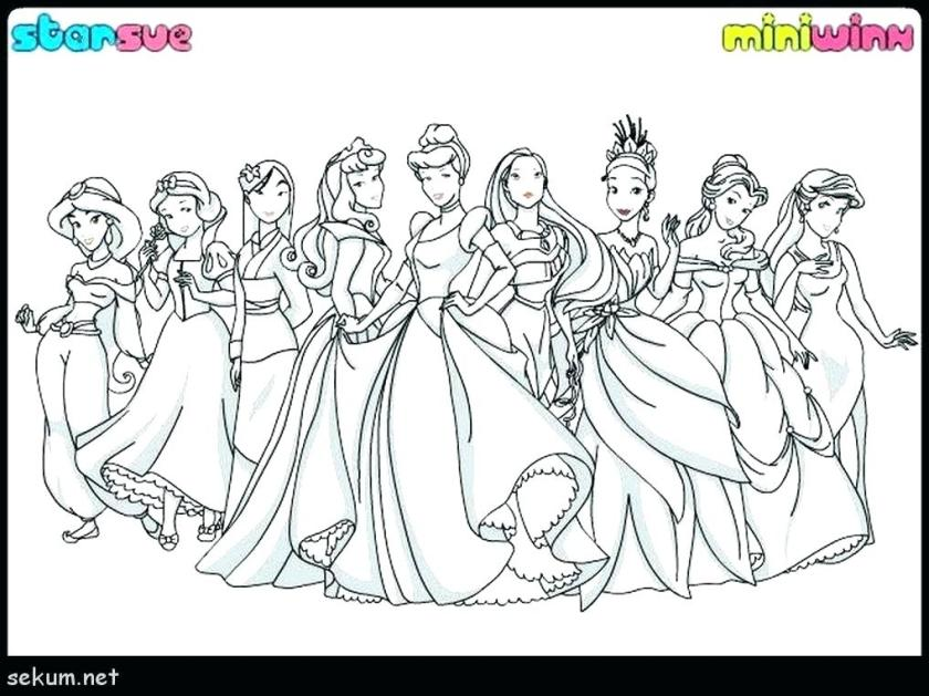 all disney princesses coloring pages colouring free of