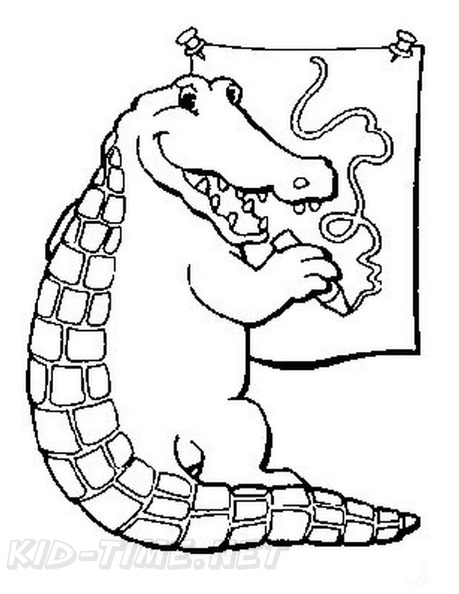 alligator coloring book page free coloring book pages