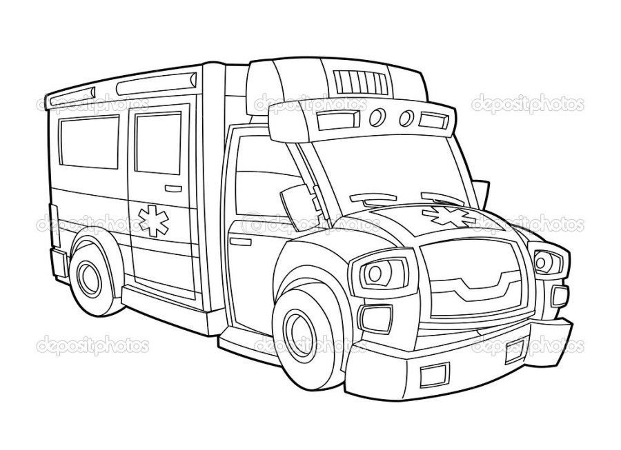 ambulance coloring page via free coloring pages ifttt1ni