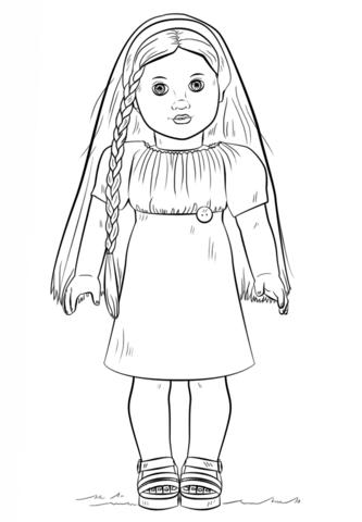 american girl doll julie coloring page free printable