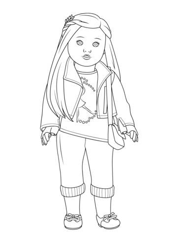 american girl isabelle doll coloring page free printable