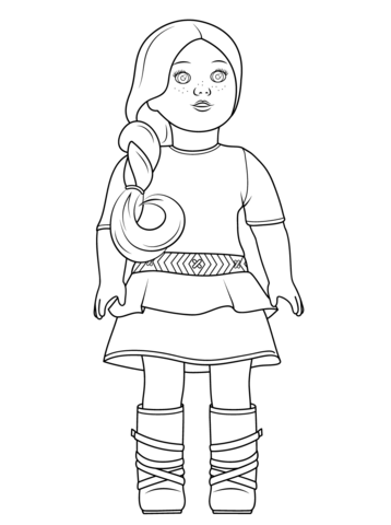 american girl saige coloring page from american girl