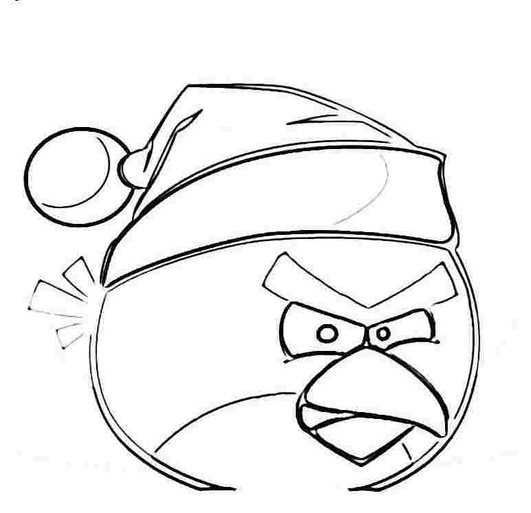 angry birds coloring pages for christmas christmas