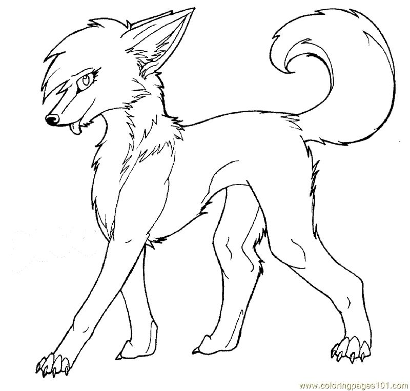 Anime Wolf Coloring Pages Gallery - Whitesbelfast.com