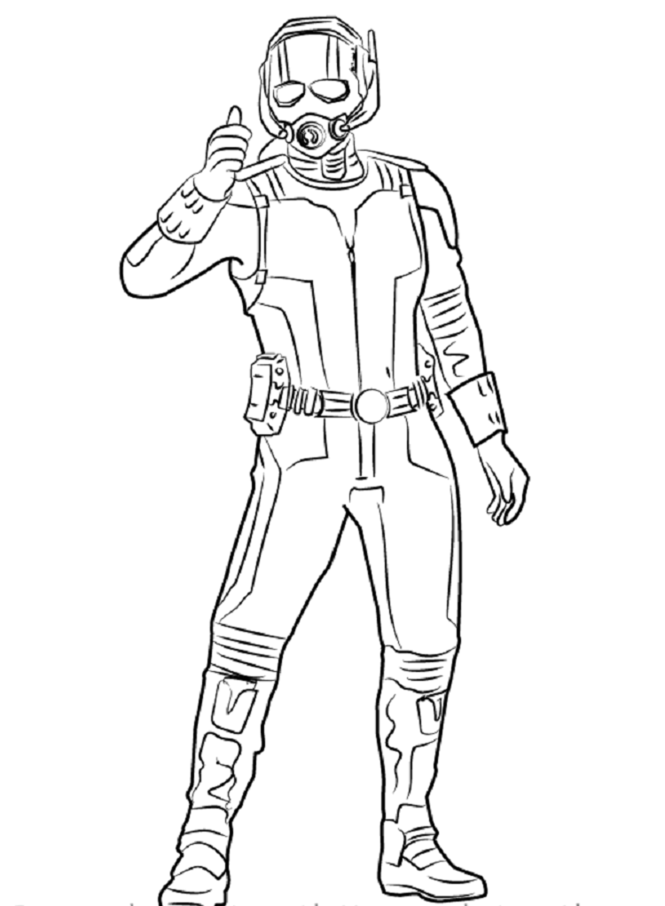 ant man coloring pages superhero coloring pages for kids