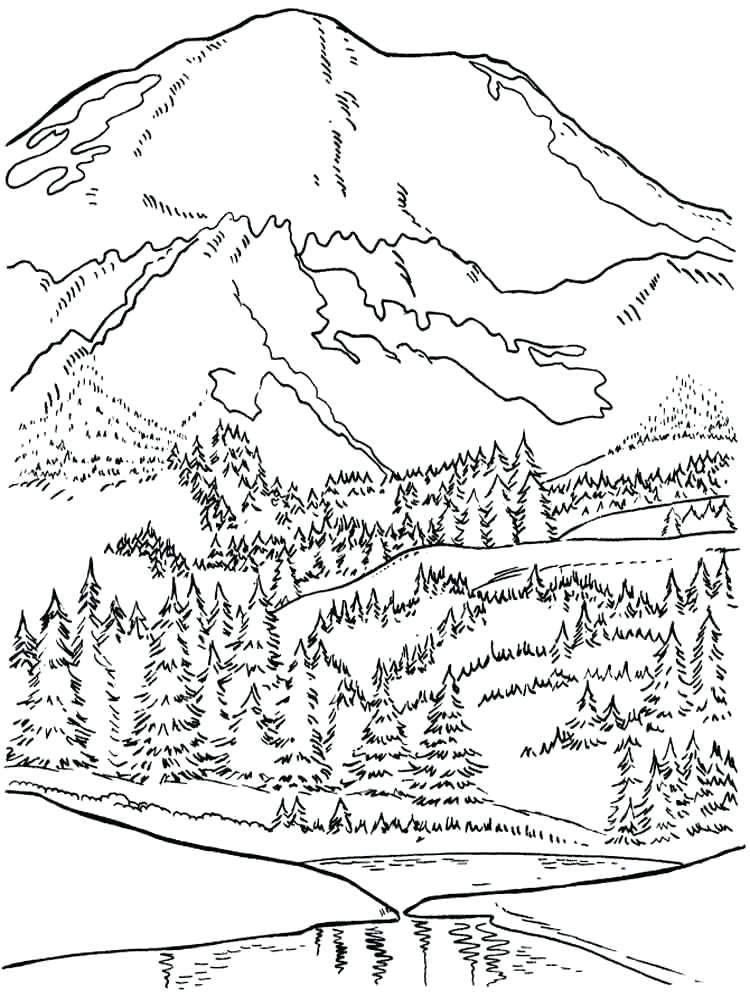 appalachian mountain coloring pages to print fun for kids
