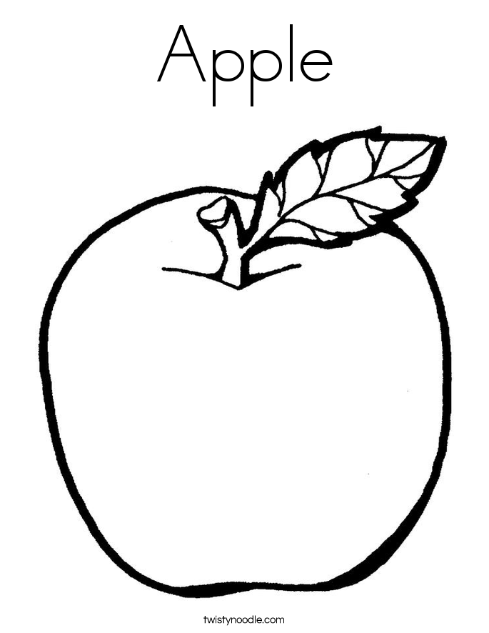 apple coloring page apple coloring pages fruit coloring