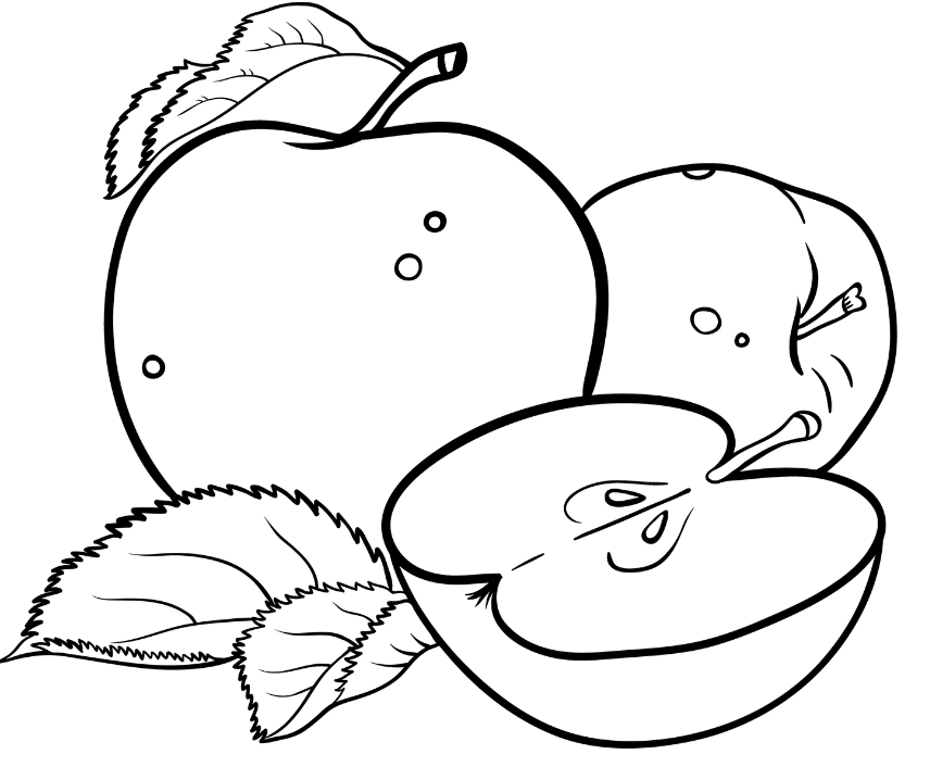apple coloring pages bestappsforkids