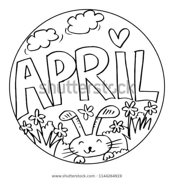 april coloring pages kids stock image download now