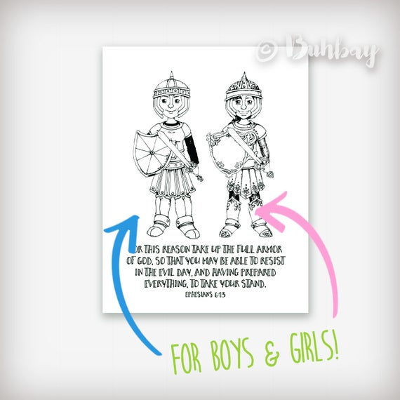 armor of god coloring sheets pdf