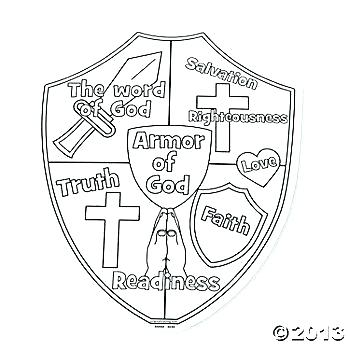 armour of god coloring page at getdrawings free for