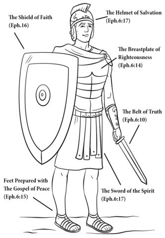 armour of god coloring page free printable coloring pages