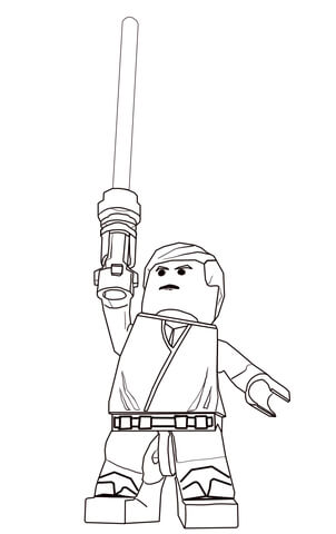 ausmalbild lego star wars luke skywalker ausmalbilder