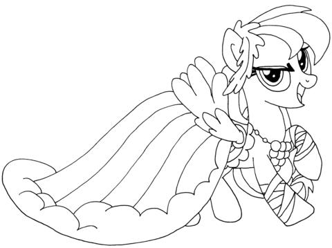 ausmalbild my little pony rainbow dash ausmalbilder