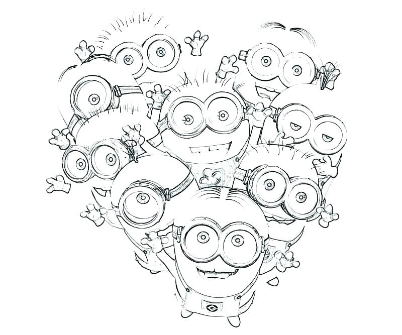ausmalbilder minions of despicable me minion coloring page