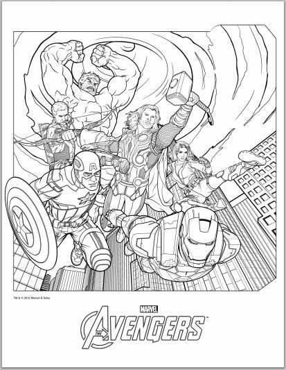 avengers coloring pages in case anyone felt like enjoying