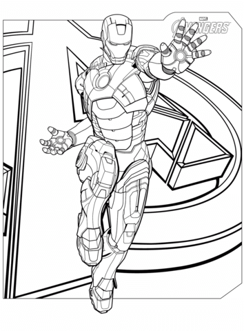 avengers iron man omalovnka free printable coloring pages