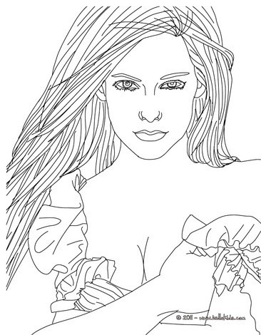 avril lavigne coloring pages hellokids