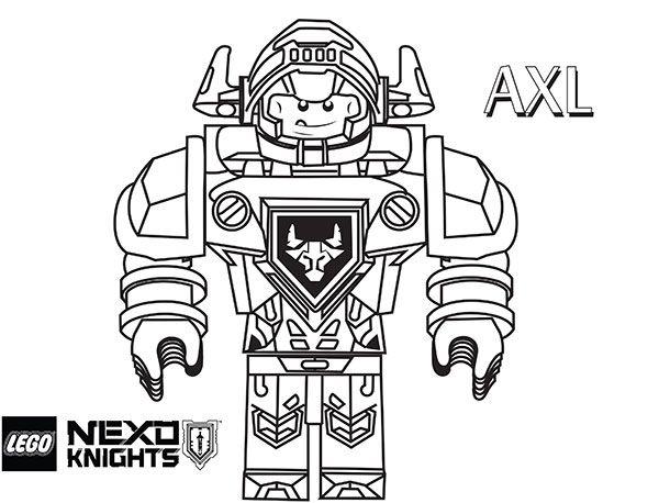 axl lego nexo knights coloring page wenn du mal buch