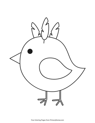 ba chick coloring page free printable pdf from primarygames