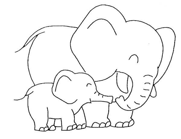 ba elephant love her mother coloring page elephant