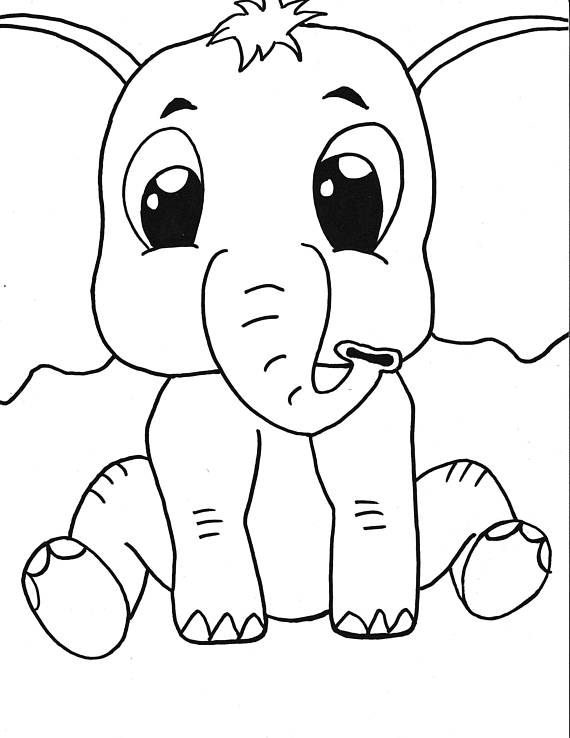 ba elephant printable coloring pagekidscoloringinstant