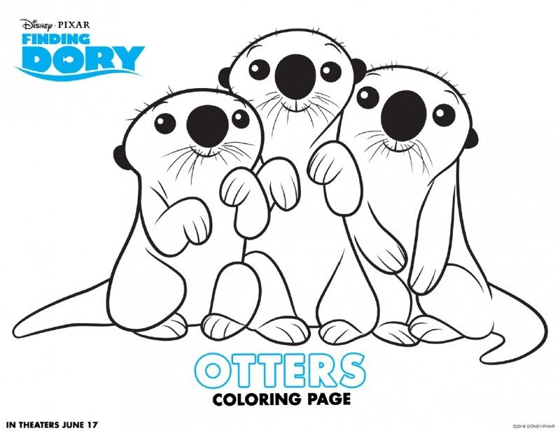 ba otter coloring pages